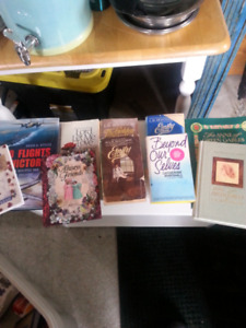 Assorted books .25 cents each