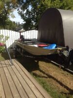 2015 14' Tracker boat with 9.9 Merc and trailer