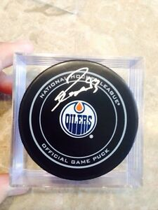 Oilers signed hockey pucks  Strathcona County Edmonton Area image 1