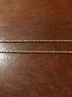 """14k yellow gold necklace 18"""""""
