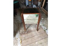 Wooden & Glass Side Table