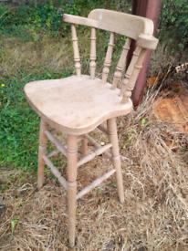 Antique pine breakfast bar stool