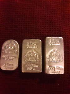 999 silver bars and coins