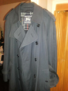 Burberry Trench Coat  Jacket Made in England New Mens