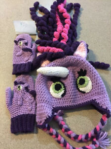2-6 Crocheted hats,head mittens