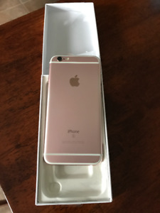 Unlocked ROSE GOLD 16g iPhone 6S - barely used