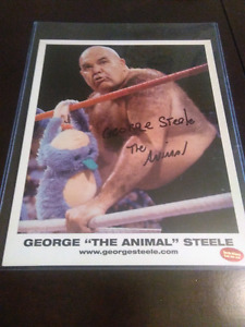 WWF GEORGE THE ANIMAL STEELE AUTOGRAPH WWE