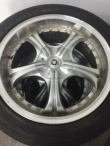 "Konig 17"" wheels with tires"