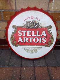 Stella Artois metal sign