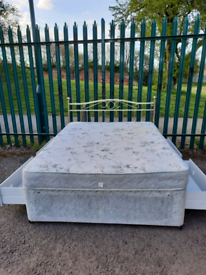 Double bed + mattress & drawers (delivery available