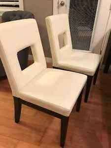 Leather Dining Chairs - set of 4