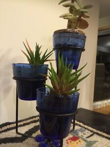 3 Tiered Plant Stand and Plants