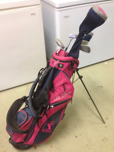 LGA Girls Golf clubs and carrying bag