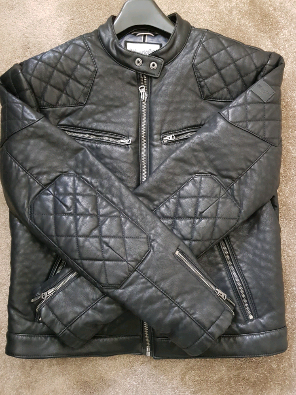 5168d83c3 MENS WRANGLER LEATHER BIKER JACKET | in Leigh, Manchester | Gumtree