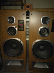 Two technics home speakers