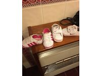 0-3 months baby adidas + Nike shoes good condition