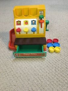 Fisher Price Cash Register Vintage with 6 coins