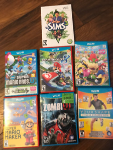 Great condition used wii u + 8 games + controllers  $ negotiable