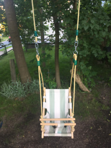 Baby swing (canvas & wood)