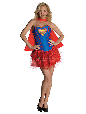Adult Ladies Supergirl Corset & Tutu Superhero Fancy Dress Costume Sexy Outfit  - Adult Tutu Outfits