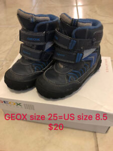 Geox boy Winter Boots Shoes Size 8.5
