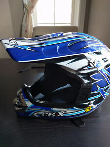 New Youth Dirt Bmx Bike Helmet - CKX Blue Youth Medium