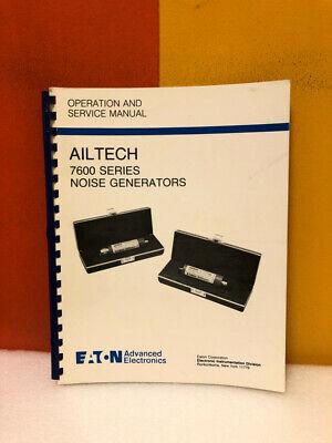 Eaton Ailtech 7600 Series Noise Generators Operation Service Manual