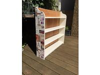 Wooden country kitchen style bookcase