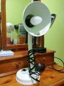 White desk lamp light