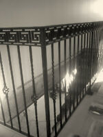 railings, x-legs, gates, window well covers, security bars,