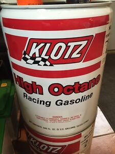 Klotz 110 octane race fuel and octane boost