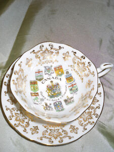 PARAGON English Cup&saucer with Canadian Coats of Arms