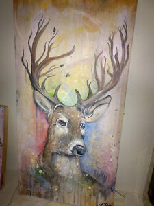 Deer Painting - Portrait for sale ! London Ontario image 1