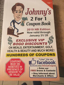 Johnny 2-for-1 coupon books