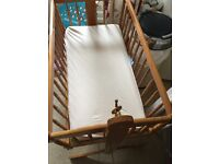 Swinging crib and mattress from newborn