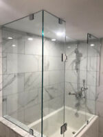 SHOWER GLASS DOOR FRAMELESS ENCLOSURE