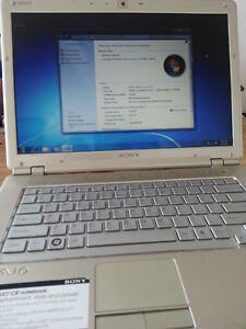 "Sony Vaio 14"" laptop Intel Dual Core 2 GHz webcam"