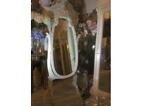Coach house antique floor standing mirror