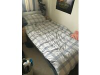 Single bed with metal frame