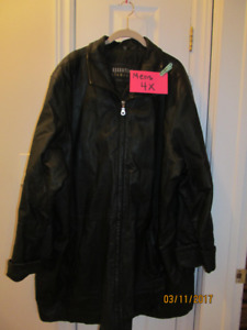 Men's leather jacket, size 4X