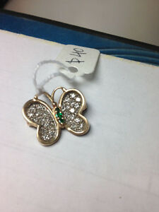 10k Gold BUTTERFLY pin $40