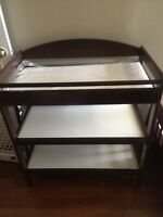 Brown changing table