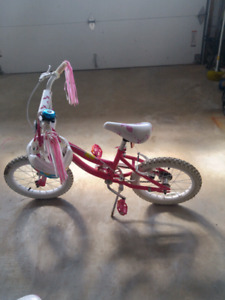 Girls 16 inch bike with helmet