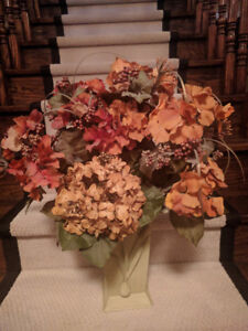 Dried Flower (Fabric) Arrangement - Rust and Gold Blooms