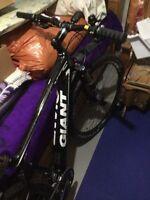 Giant carbon fibre mountain bike