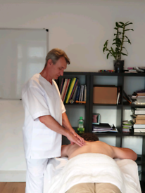 Professional massage therapist with