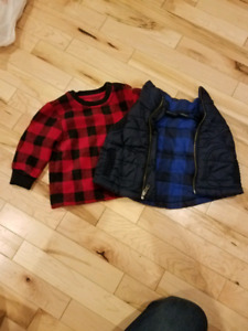 12 mo sweater and vest combo