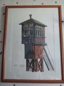 PAINTING OF CPR CROSSING TOWER IN LONDON- ONE OF A KIND
