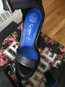 Jeffrey Campbell Black Platform Sandals - $130