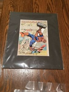 Spiderman Vintage Comic Book Art - 11 x 14 come matted